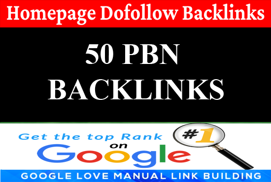 I will build 50 PBN Dofollow Backlinks Permanent Manually works