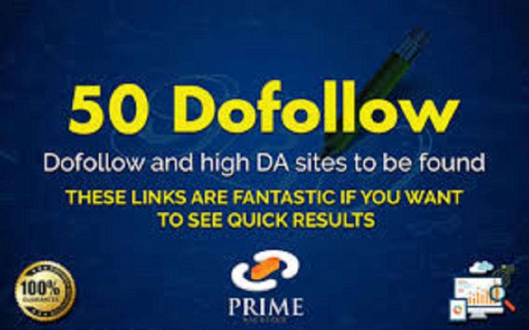 I will provide high quality 50 Dofollow high da link building backlinks