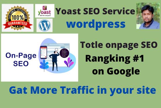 I will do wordpress onpage yoast SEO