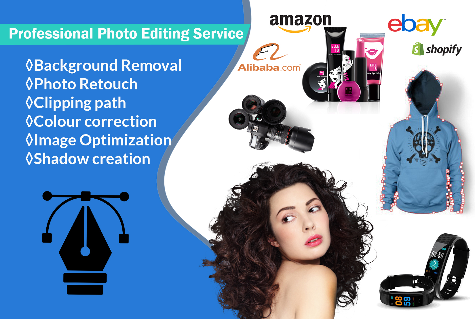 I will do professional photo editing,  retouching,  background removal