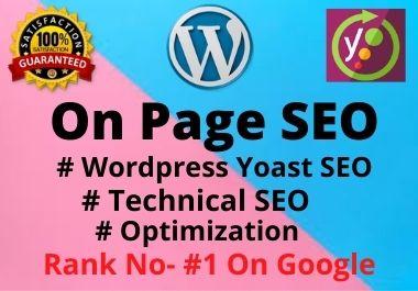 I will do Wordpress onpage SEO service with yoast premium,  without any error