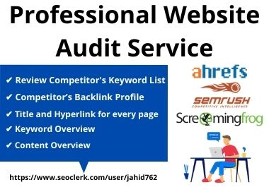 Analysis website and Create professional SEO audit report