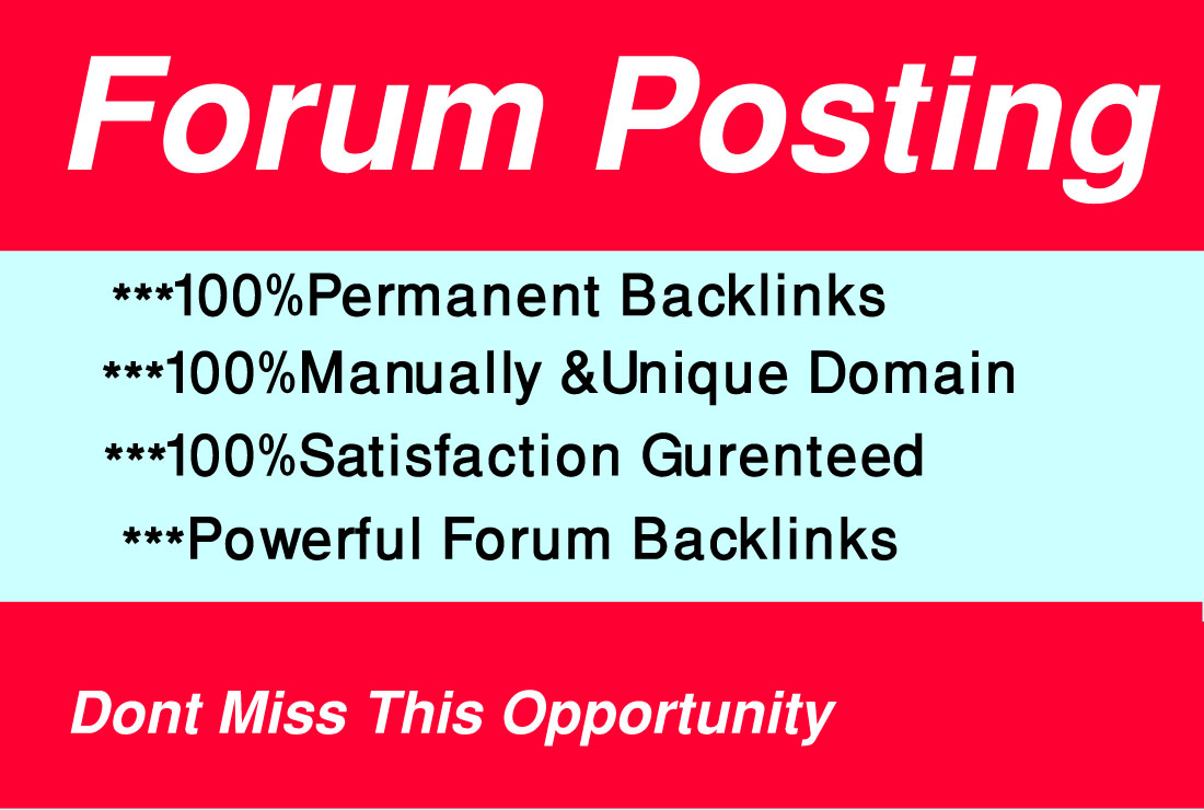 I will manually 20 forum posting on high-quality Website.