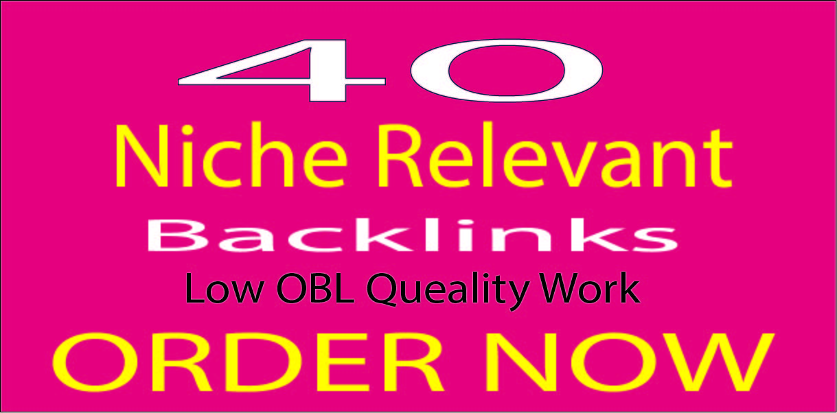 I will do 40 niche relevant blog comments backlink.