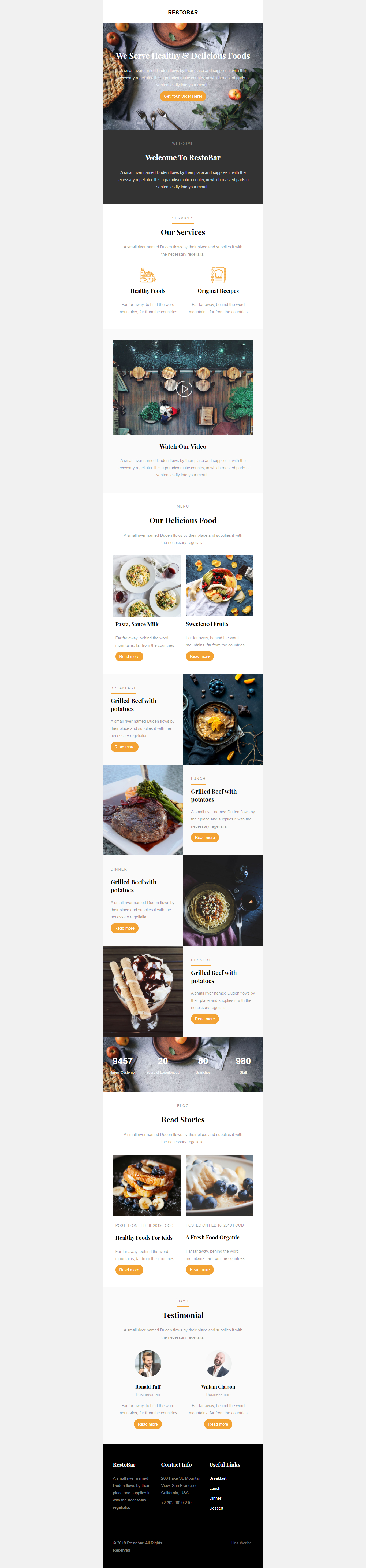 I will built a email template,  responsive HTML email template newsletter