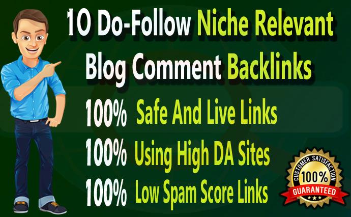 I will create 10 unique dofollow niche Relevant blog comment backlinks
