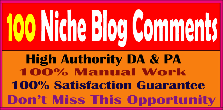 I will Do 100 Adult Website Niche Relevant Blog Comments Backlinks on High DA & PA