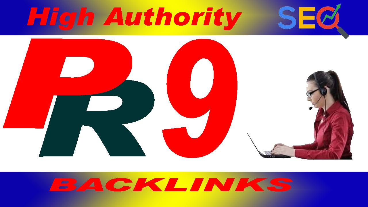 I will provide 30 High-Quality PR 9 SEO Backlinks Service.