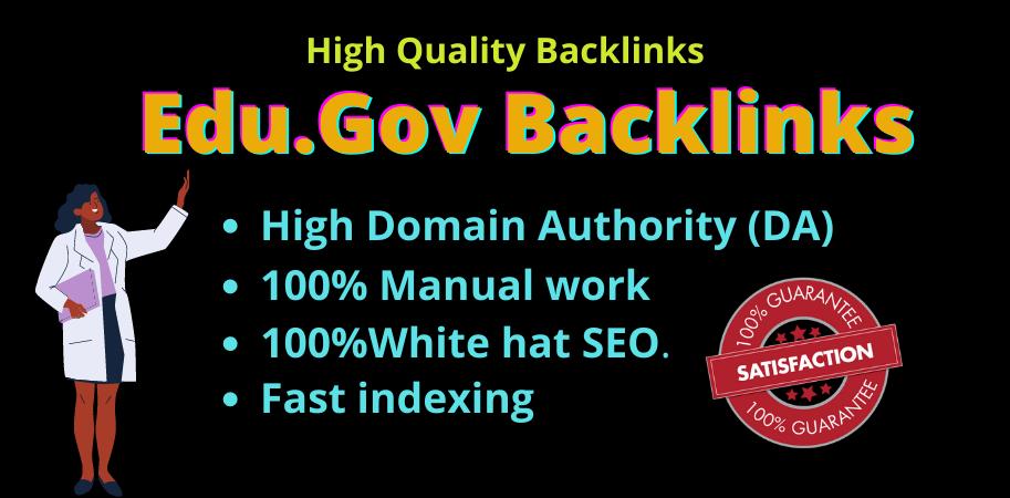 I will make 15 edu gov profile backlinks