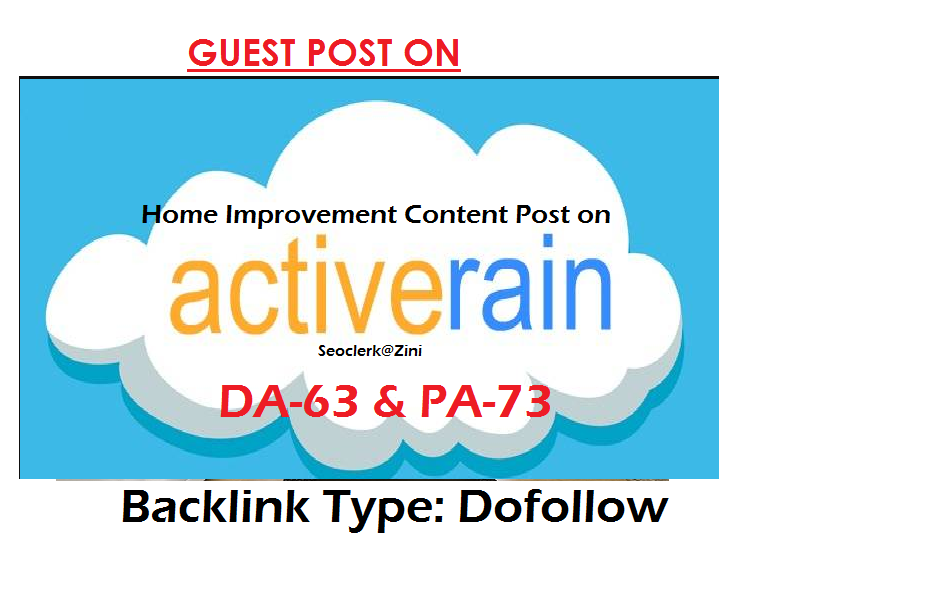 Can publish home improvement content on Activerain. com DA-63