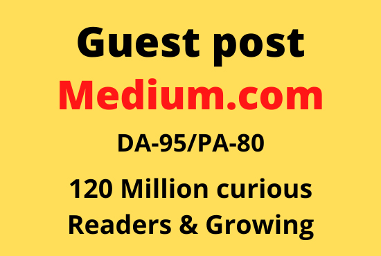 I will write and publish a guest post in medium. com