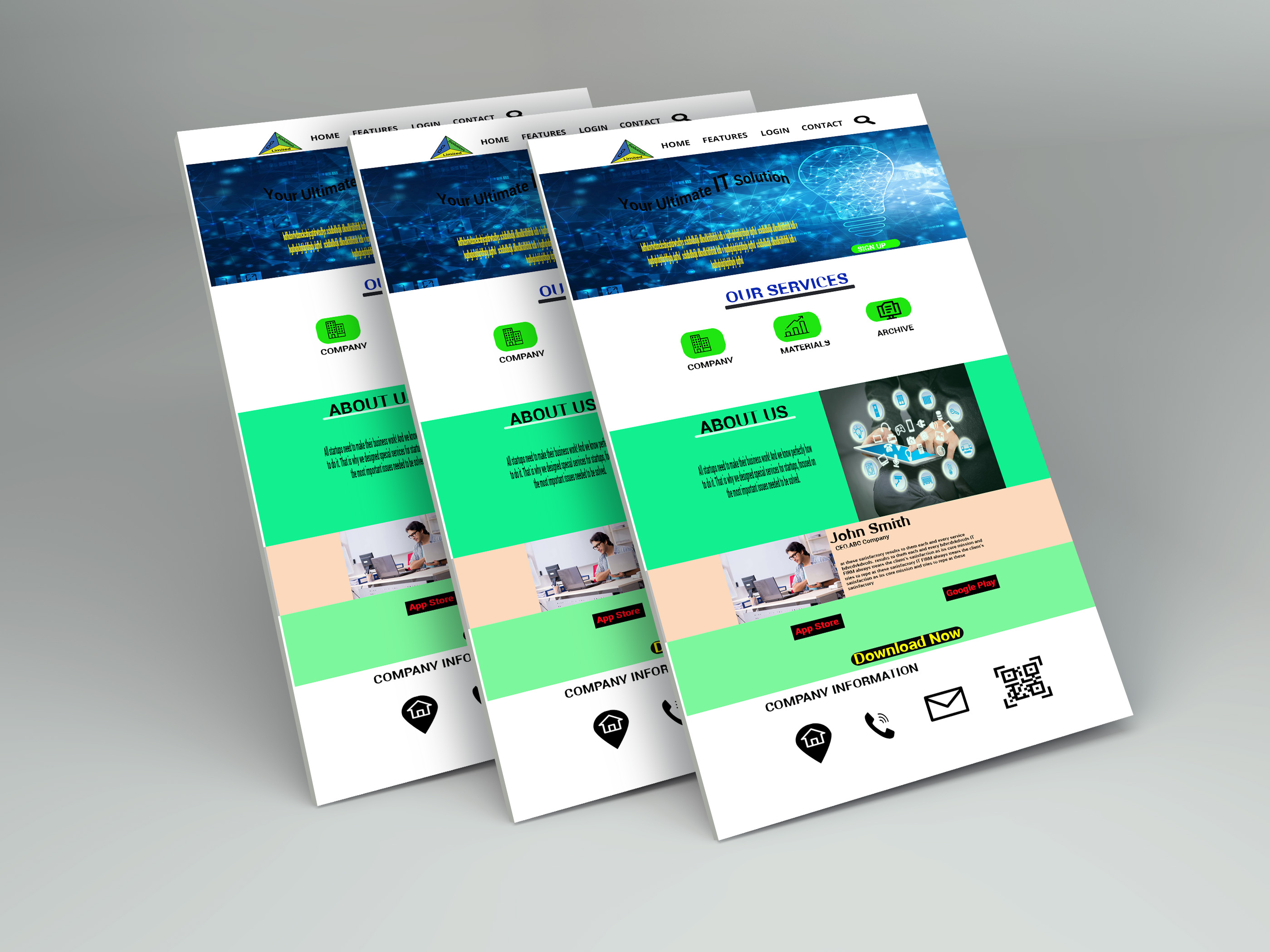 I can create An Awesome Web page template for your dream project