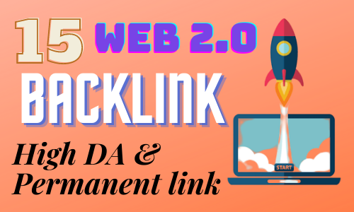 I will do 15 handmade web 2.0 backlinks