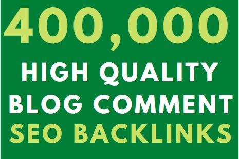 400k GSA blog comment High Authority Backlink on google Ranking