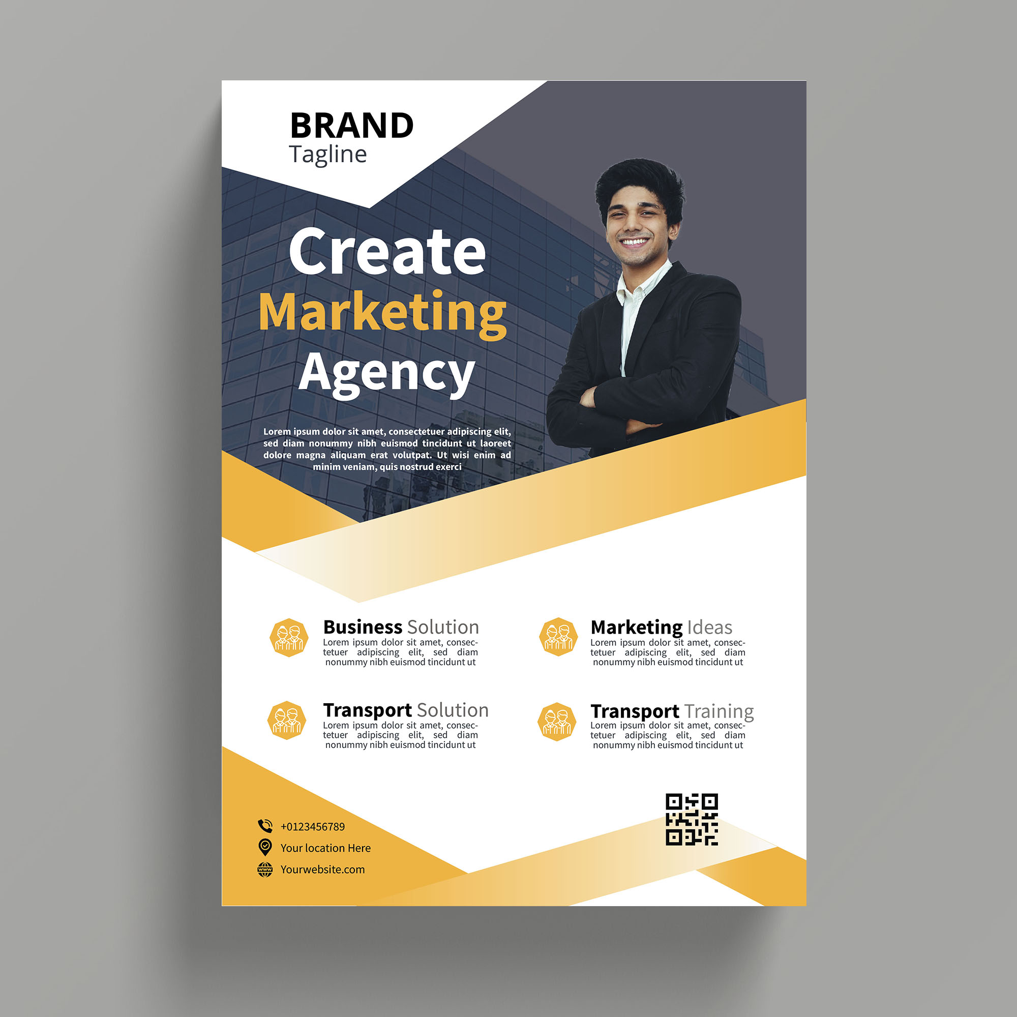 I will design professional corporate flyer rapidly