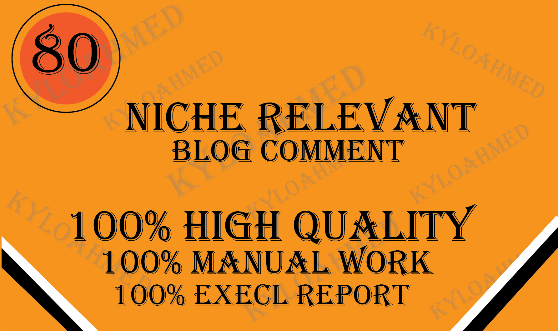 I will do 80 niche relevant unique domains manually blog comment