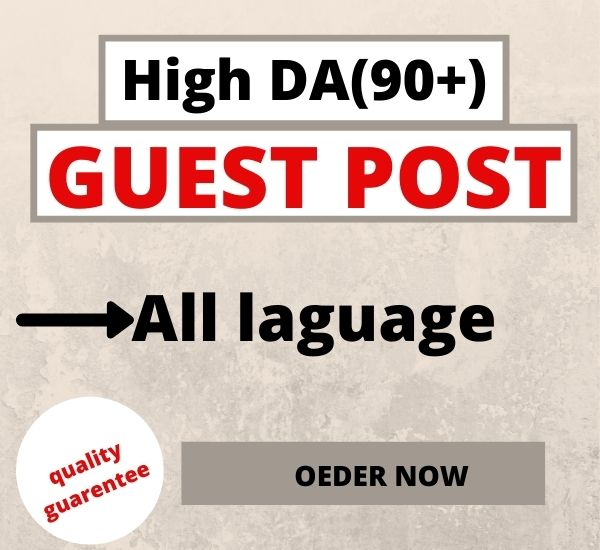 I will write and publish 10 guest post on DA 90+ high authority sites