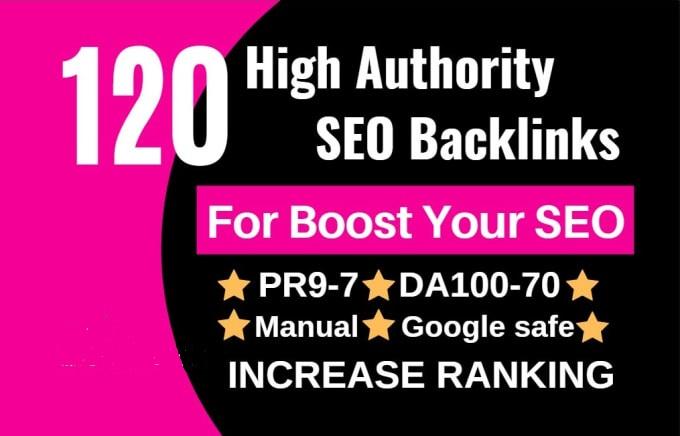 I will do 120 high authority SEO link building backlinks service