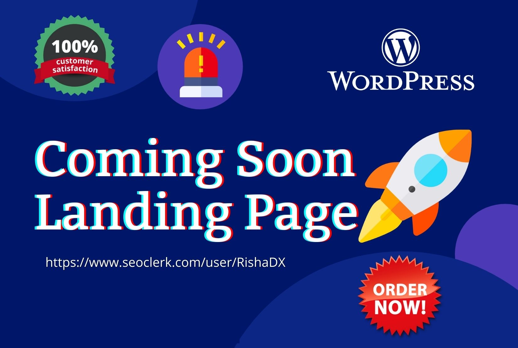 I will create coming soon under construction landing page