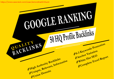 Provide 50 High Authority DA PA Profile Backlinks Manually 2020