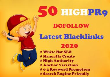 I Will Build Manually 50 High DA 80+ Dofollow Profile Backlinks Creation-2020