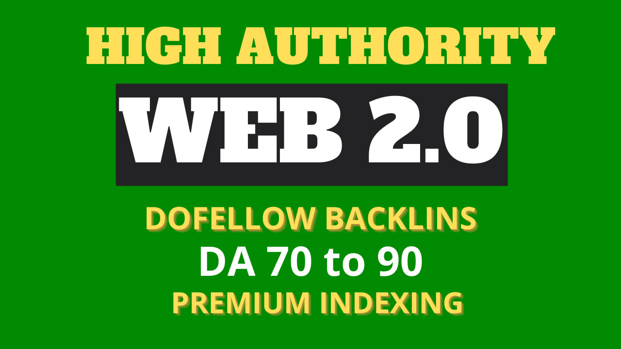 Indexable Dofollow 200 High Autority Web2.0 SEO backlinks using all Unique Article