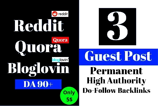 I will do Guest Post Dofollow Guest Posts Write and Publish
