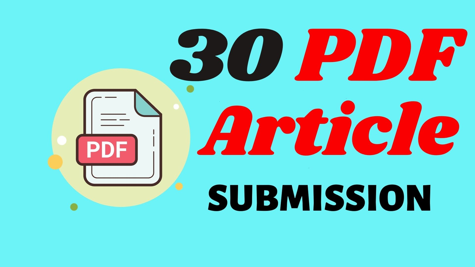 I will do manually pdf submission to top 30 pdf sharing sites for perfect seo link building