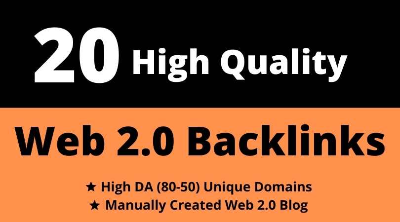 20 Dofollow High Autority PBN Web 2.0 SEO homepage backlinks
