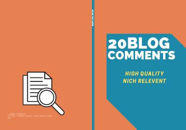 Make 20 Manual Dofollow Blog Commentins For SEO Backlinks