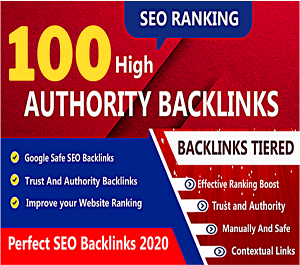 I will provide 100 profile backlinks manually with high DA & PA Sight