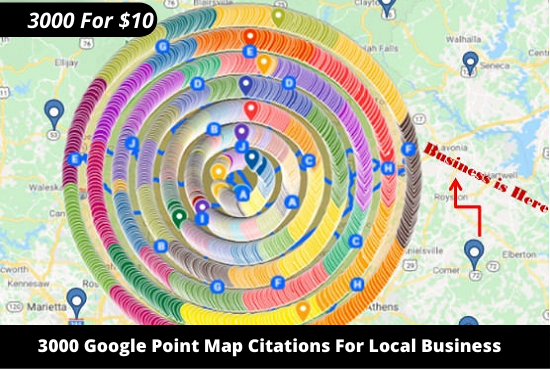 I will Create 3000 Google Maps Citations For Your Local Business Listing