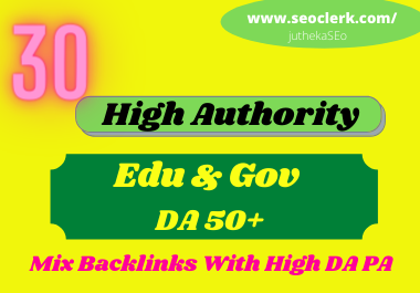I will create manually 20 pr9+10 edu & gov seo backlinks service