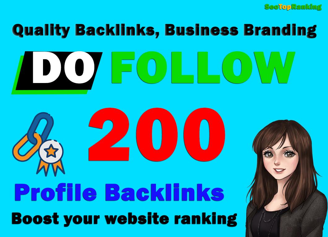 Manually 200 Backlinks Create DA 90 High Authority Permanent SEO Profile Backlinks,  link building