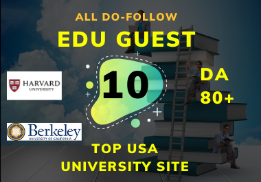 Create 10 Do-Follow High EDU Guest Post Permanent link on Top university Website