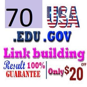 I will do manually create 70 high quality edu gov backlinks