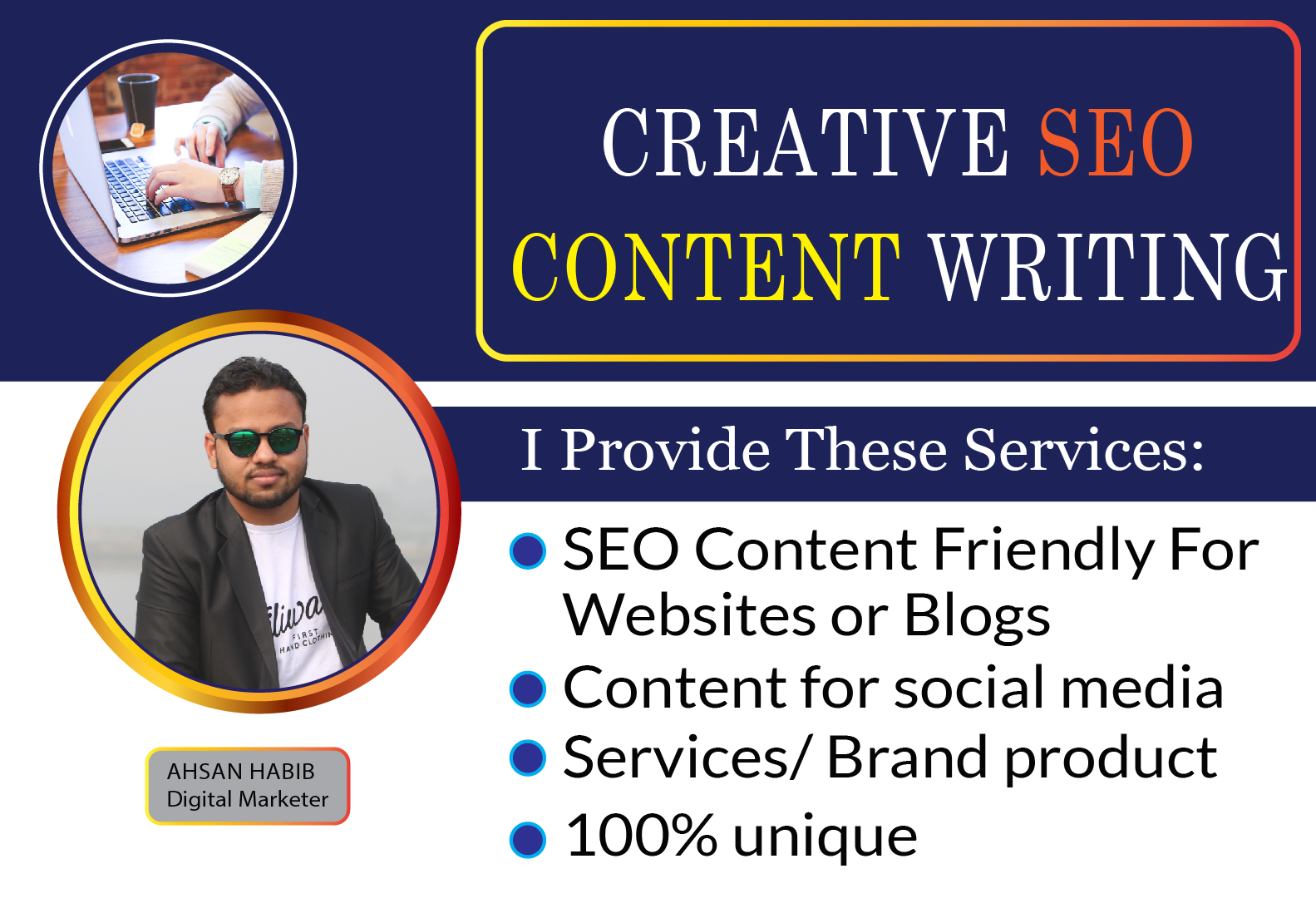 1000+ words SEO friendly content writing for websites,  blogs and social media.