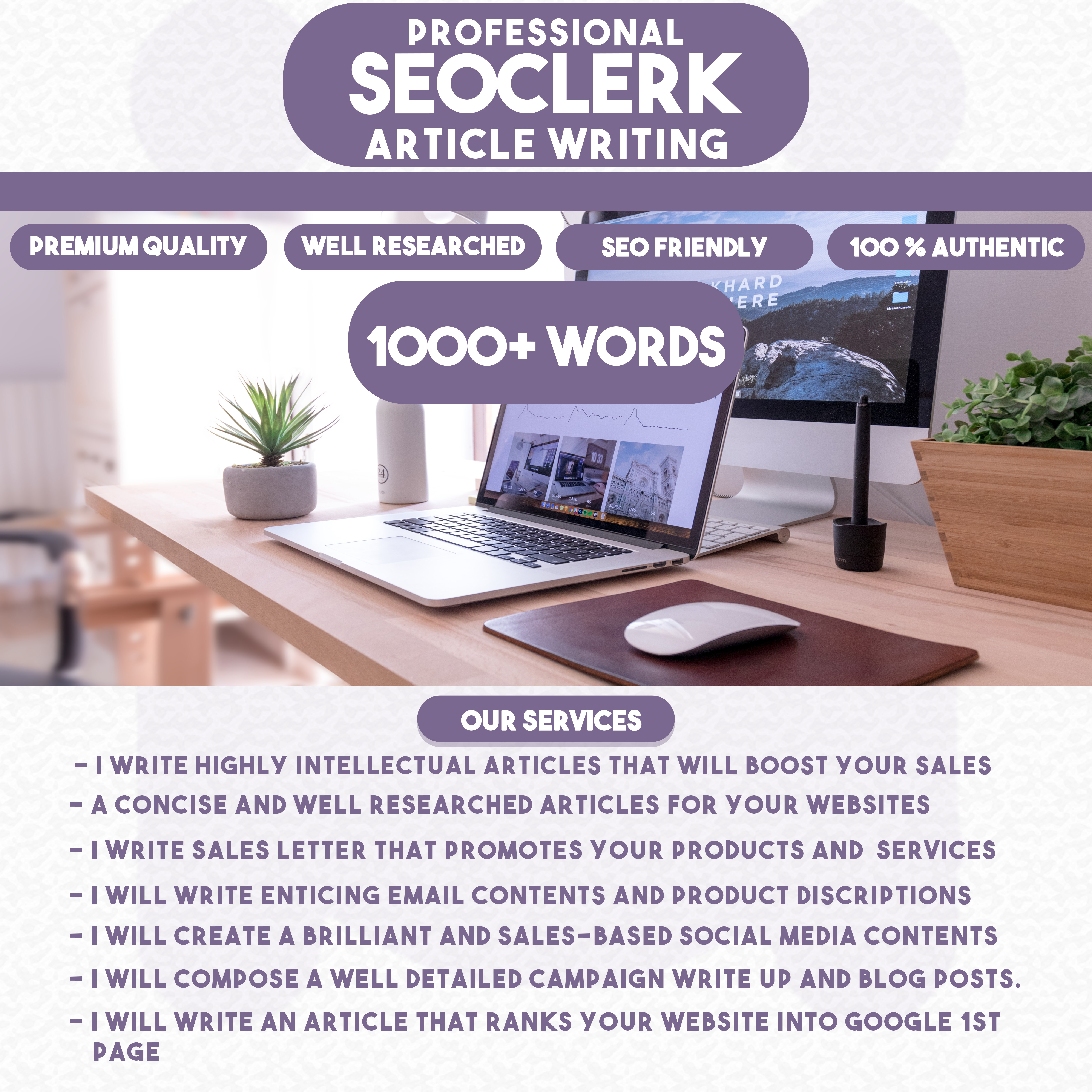 Write a high ranking SEO and detailed promotional article,  blogs,  sale letters and Website content