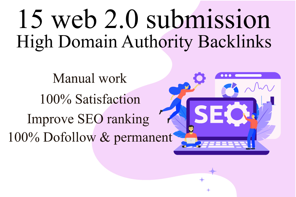 15 High-Quality SEO Web 2.0 Backlinks