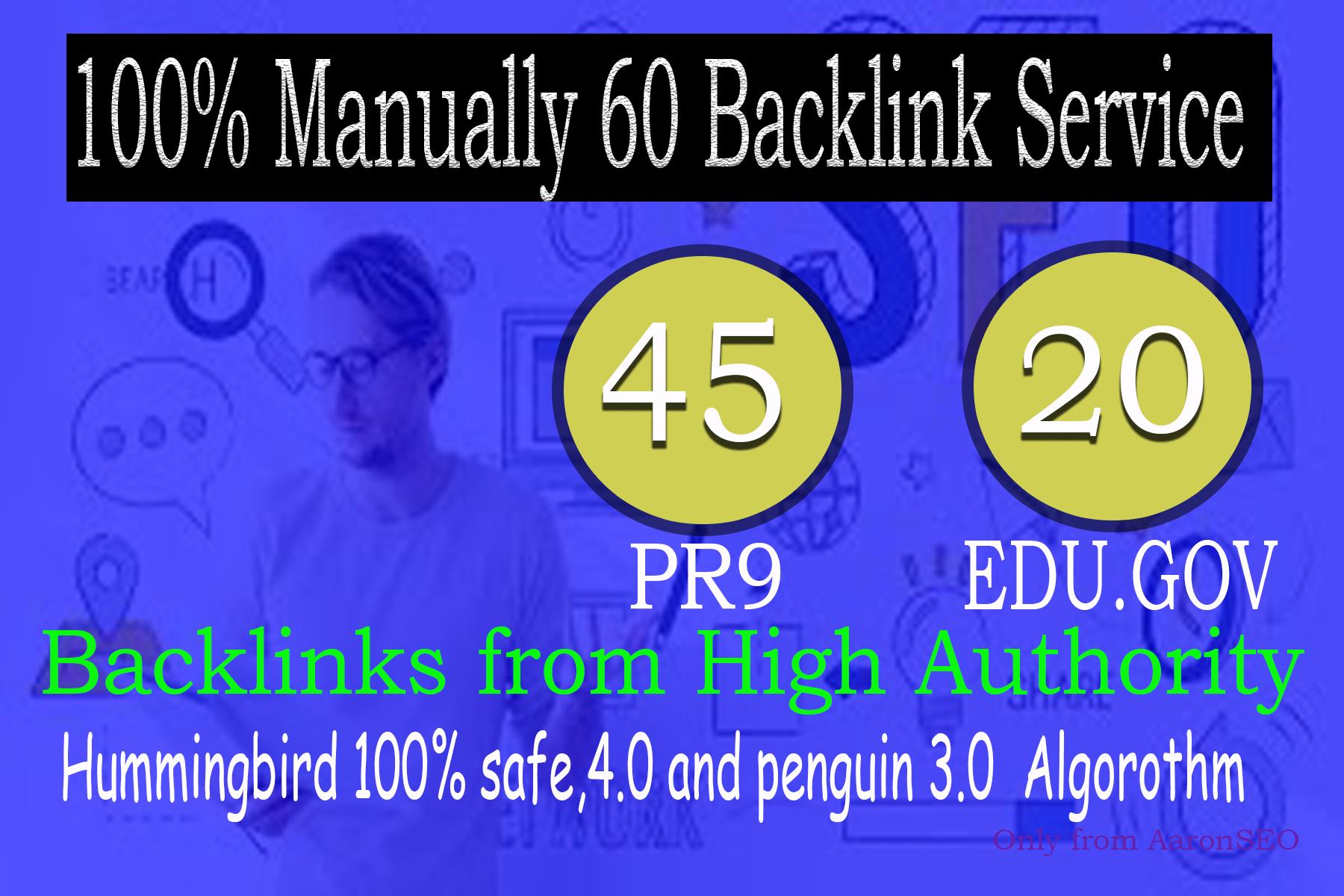 40 PR9 + 20 EDU/GOV Safe SEO High Pr Backlinks 2021 Best Results