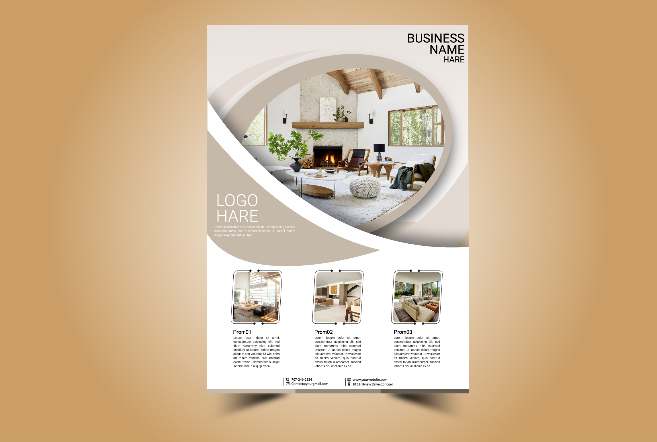I will create a professional flyer or brochure design within 12 hours