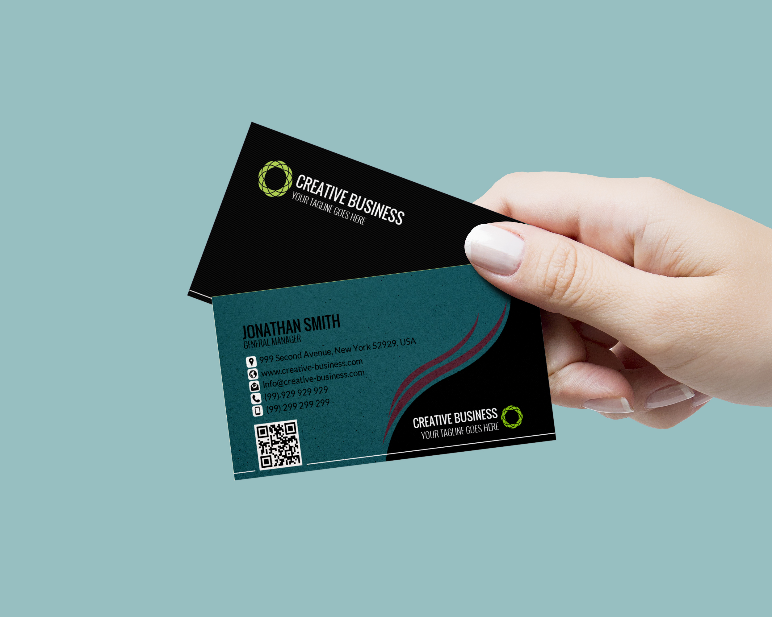 I will design an amazing professional business card for you