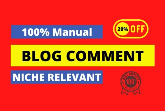 I will do 25 niche manual themed blog commenting