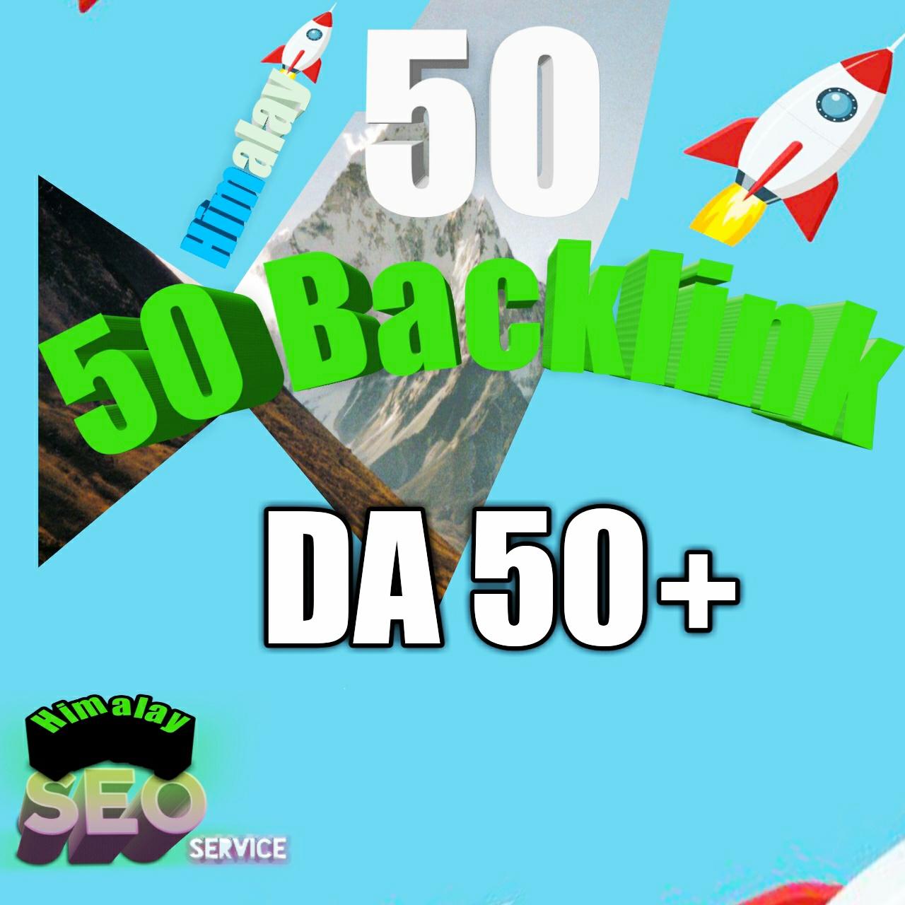 All High DA 50+ 50 high quality Get backlinks for your links/keywords