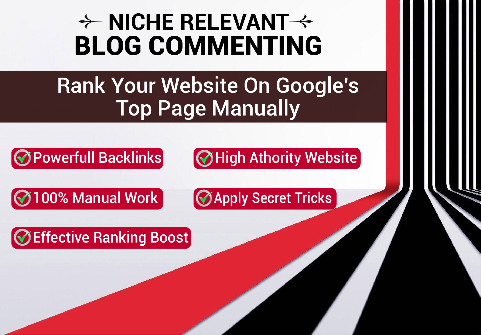I will manually do 30 niche relevant Blog comments backlinks