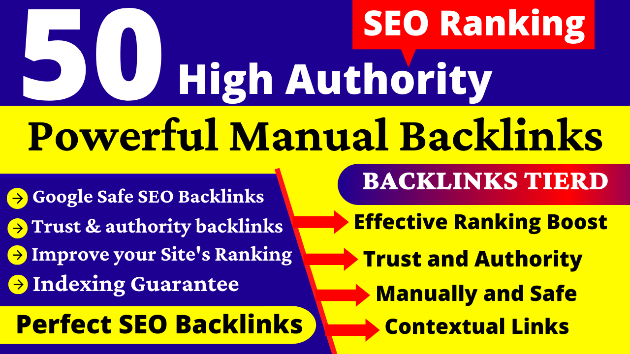 I will do Manually 50 High DA 90+ PR9 SEO Profile Backlinks