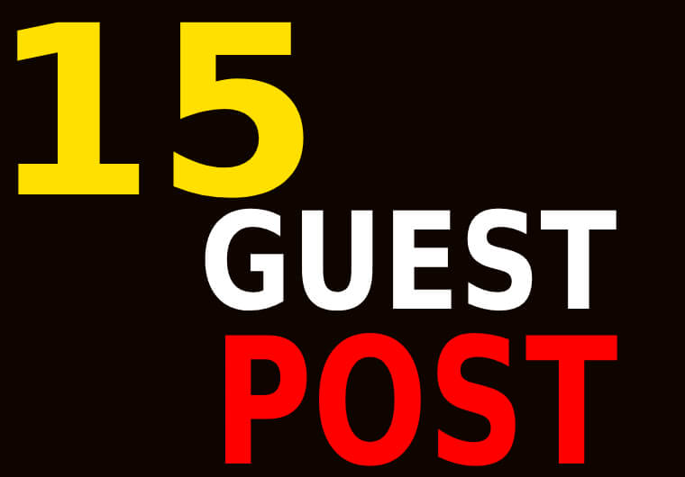 I will create high DA PA 15 Guest Post Backlinks or Link Building