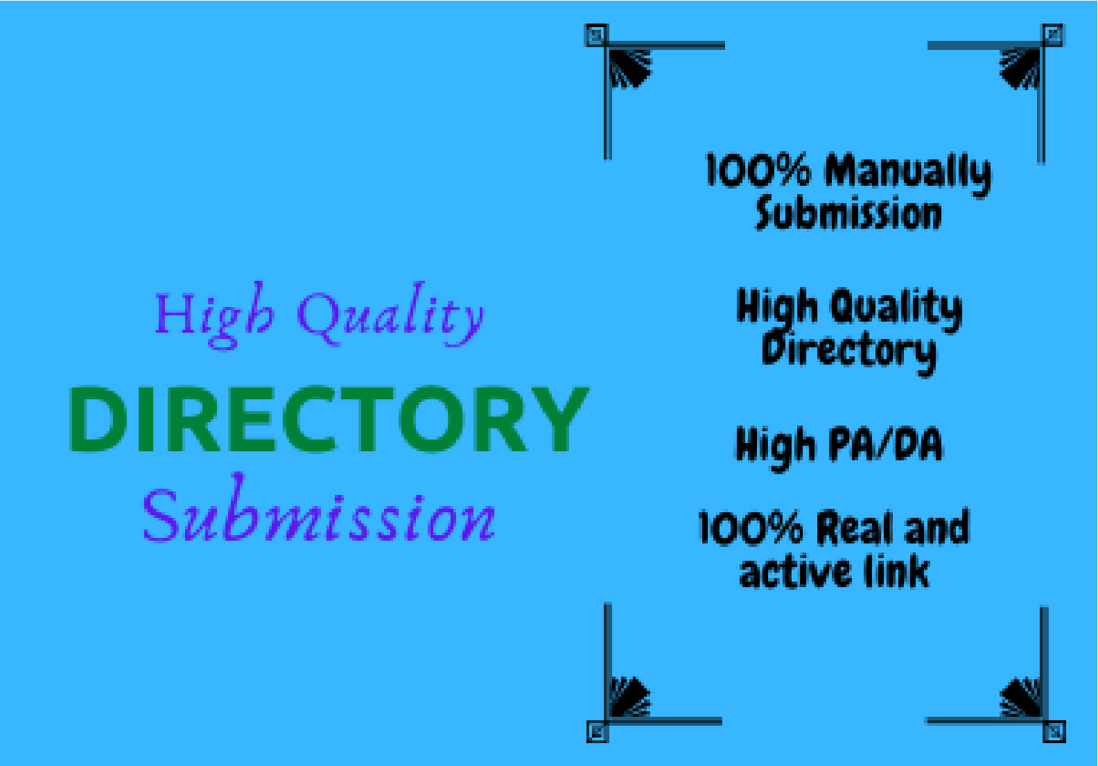 I Will Provide Manually 250 High Quality Directory Submission SEO Backlinks