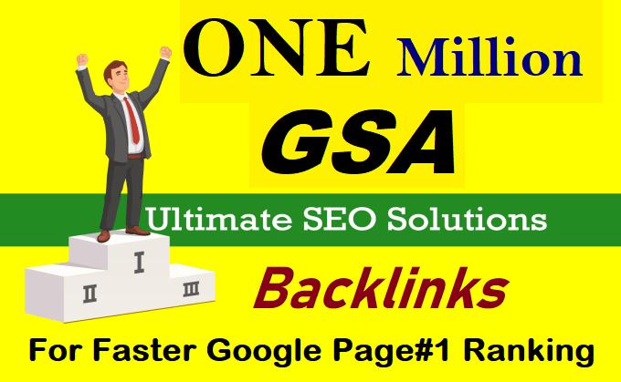 Website And Youtube Ranking Backlinks Blast by 1 million backlinks