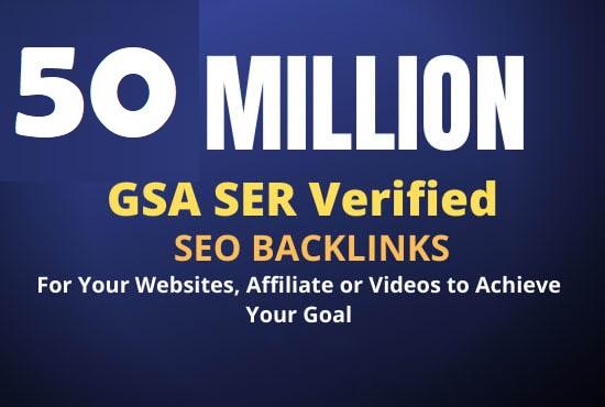 build 50 million dofollow tier backlink the best google ranking